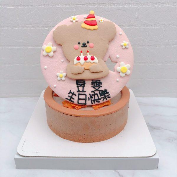 客製化造型蛋糕手作推薦,bonbon bear生日蛋糕作品分享