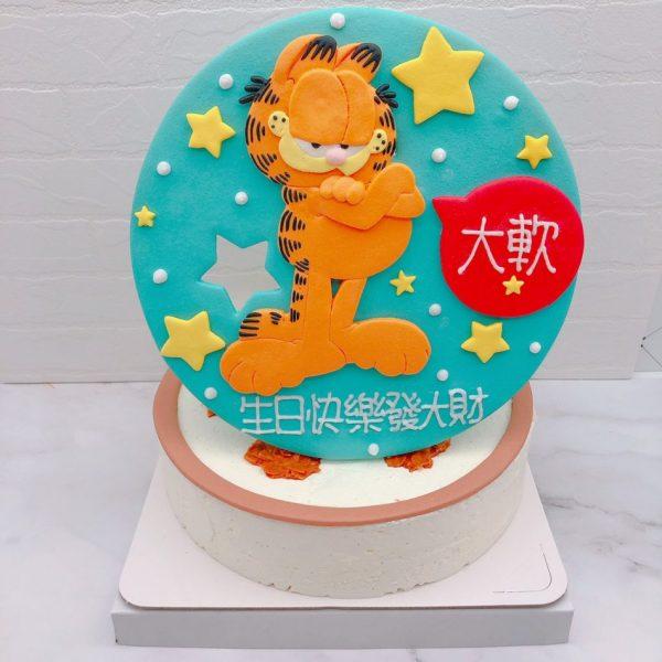 加菲貓造型蛋糕推薦,卡通生日蛋糕宅配作品分享
