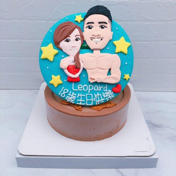 台北人像照片蛋糕推薦,Q版人像造型生日蛋糕宅配