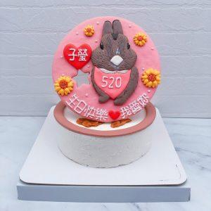 客製化兔子生日蛋糕推薦,寵物造型蛋糕全台宅配分享
