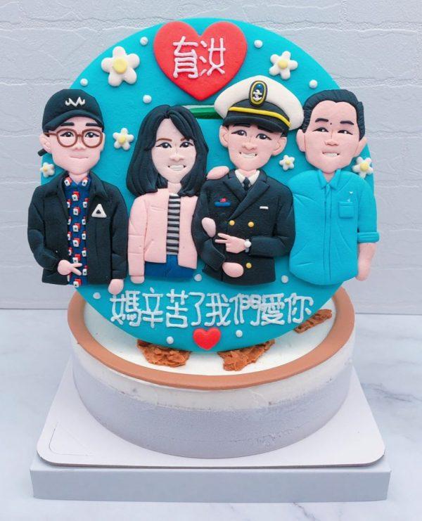 Q版人像照片蛋糕推薦,人像造型生日蛋糕宅配