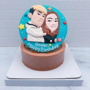 Q版人像相片蛋糕推薦,台北人像造型生日蛋糕宅配