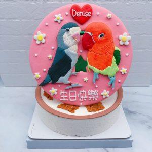小鳥造型蛋糕推薦,客製化鸚鵡生日蛋糕宅配分享