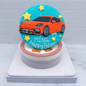 客製化保時捷汽車造型蛋糕 ,Porsche車子生日蛋糕推薦