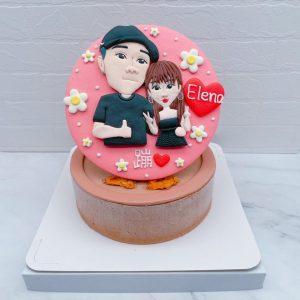 客製化Q版人像造型蛋糕推薦,台北人像照片生日蛋糕宅配