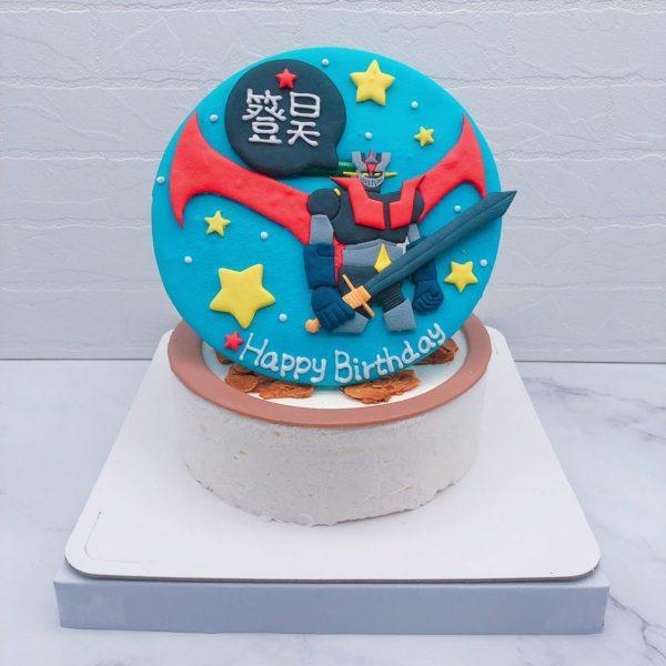 無敵鐵金剛生日蛋糕推薦,客製化卡通造型蛋糕宅配
