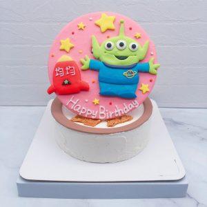台北三眼怪造型蛋糕推薦,玩具總動員生日蛋糕宅配