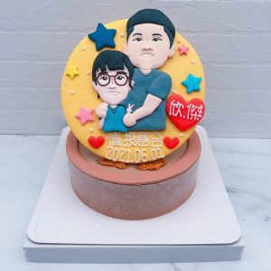 Q版人像生日蛋糕推薦,客製化人像造型蛋糕宅配