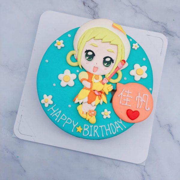小魔女DoReMi生日蛋糕推薦,小桃子造型蛋糕宅配