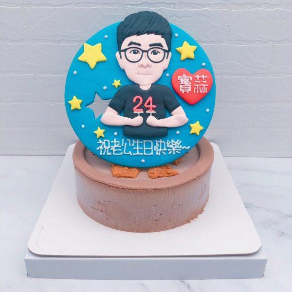 Q版人像生日蛋糕推薦,客製化照片造型蛋糕宅配