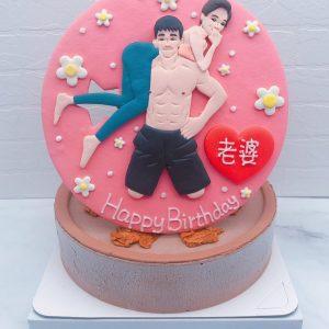 台北Q版人像生日蛋糕推薦,客製化人像造型蛋糕宅配