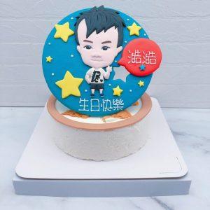 Q版人像造型蛋糕推薦,小孩照片生日蛋糕宅配