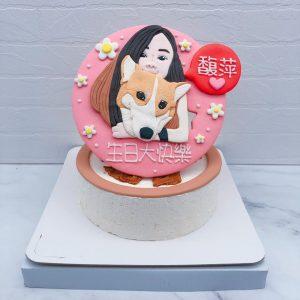 客製化Q版人像造型蛋糕推薦,小狗造型生日蛋糕宅配