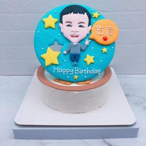 Q版人像生日蛋糕推薦,小男孩造型蛋糕宅配分享