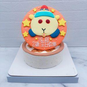 天竺鼠車車造型蛋糕推薦,客製化天竺鼠生日蛋糕宅配